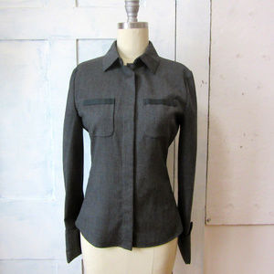 Miu Miu gray wool blouse - Prada - long sleeve